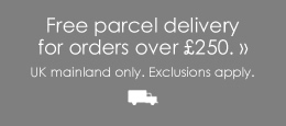 Free Parcel Delivery UK Mainland on orders over £120.00