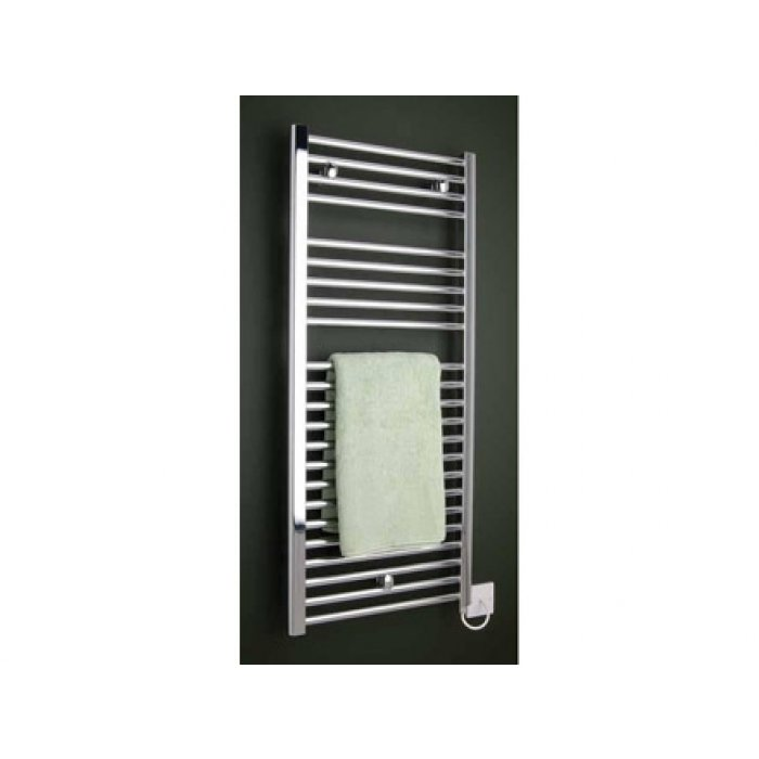 Beta Heat Electric 1150 X 600mm Straight Chrome Heated: Thames Oil Filled Straight Electric Towel Warmer 1150mm By