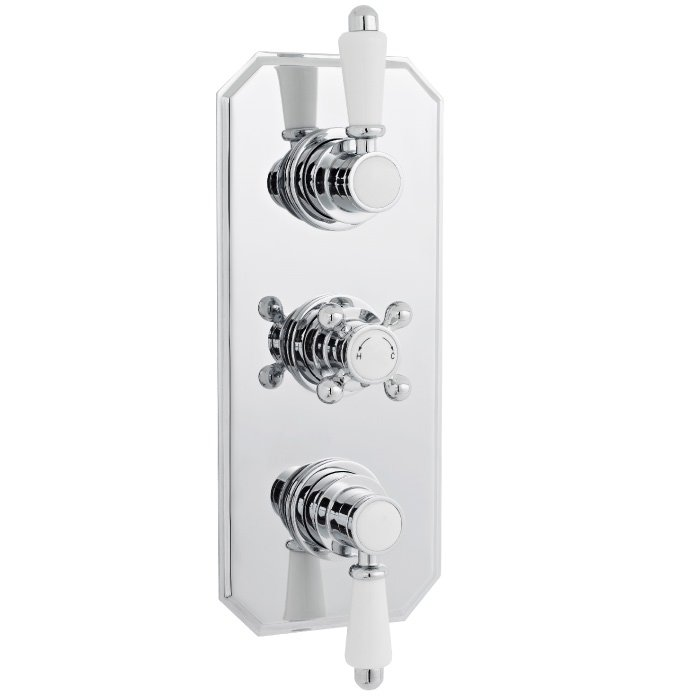 Premier Traditional Bevelled Triple Concealed Thermostatic Shower ...