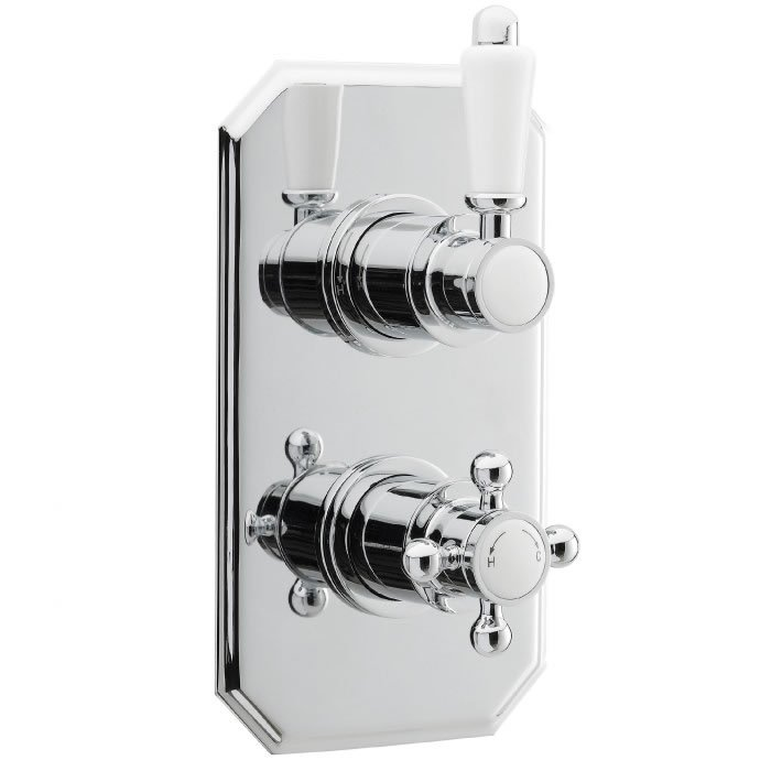Traditional Twin Concealed Thermostatic Shower Valve - BHS-Home ...