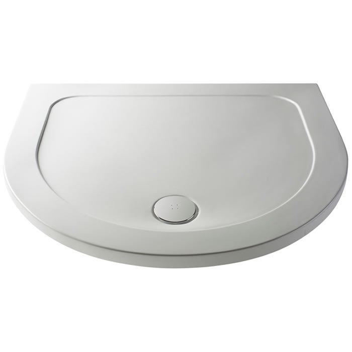 Pearlstone P40 D Shaped Shower Tray - BHS-Home Improvements