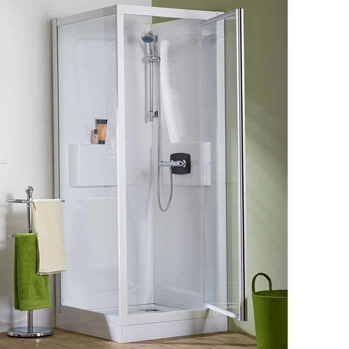 Kinedo Kineprime 800mm by 800mm Corner Shower Cubicle with Pivot ...