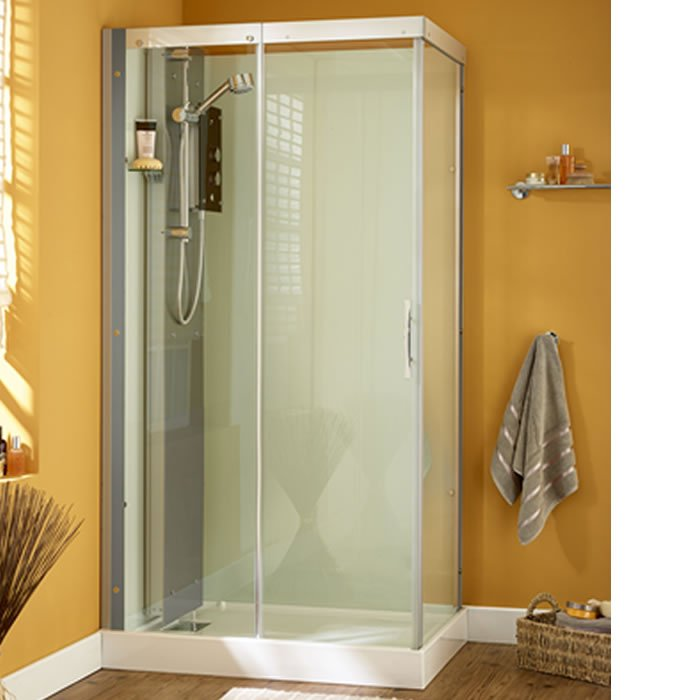 Kinedo Moonlight 1100mm by 900mm Corner Shower Cubicle with Slider ...