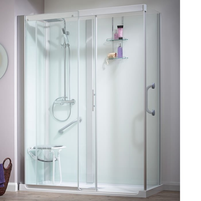 Kinedo Kinemagic Serenity 1200mm by 700mm Corner Shower Cubicle with ...