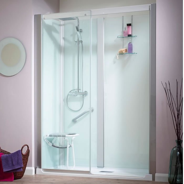 Kinedo Kinemagic Serenity 1600mm by 700mm Recess Shower Cubicle K5 ...