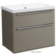 Roper Rhodes Scheme 600mm Wall Mounted Basin Unit with Double Drawers in Matt Light Clay SCH600D.MLC