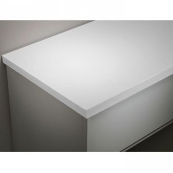 Tavistock 1280mm Solid Surface Worktop in Artic White TA3W12A.AR