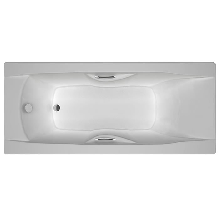 Carron Imperial 1600 X 700 Carronite Bath With Twin Grips