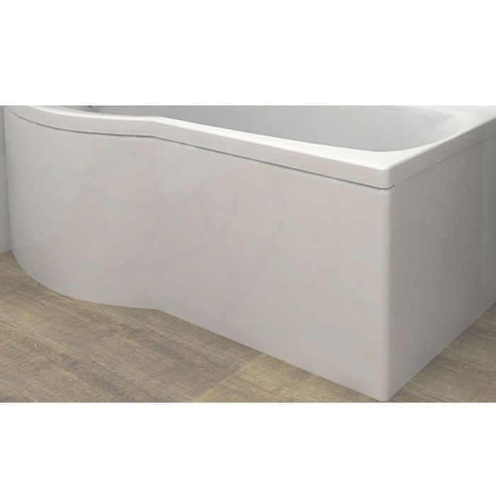 Carron Delta Shower Bath Curved Front Panel Carronite 1600 x 540mm ...