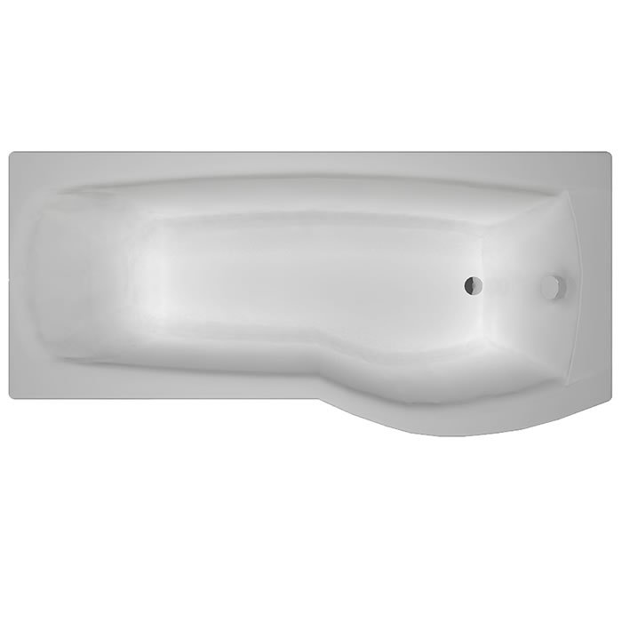 Carron Delta 1700 x 700-800 5mm Acrylic RH Shower Bath – 23.0671R ...