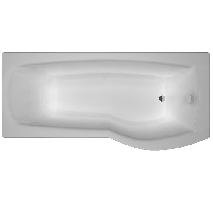 Carron Delta 1700 x 700-800 Carronite RH Shower Bath – 23.2671R (Q4 ...