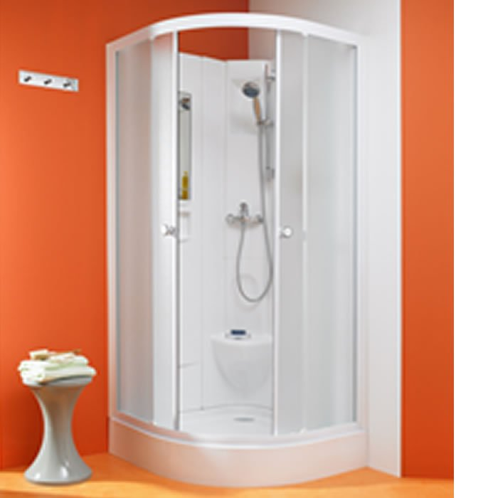 Kinedo Kineprime Glass 800mm by 800mm Quadrant Shower Cubicle with ...