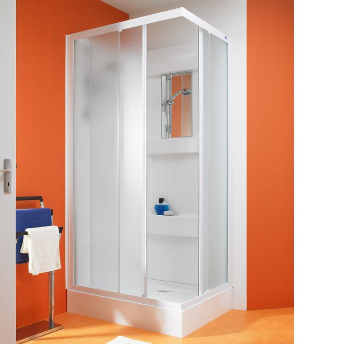 Kinedo Kineprime Glass 900mm by 900mm Corner Shower Cubicle with ...