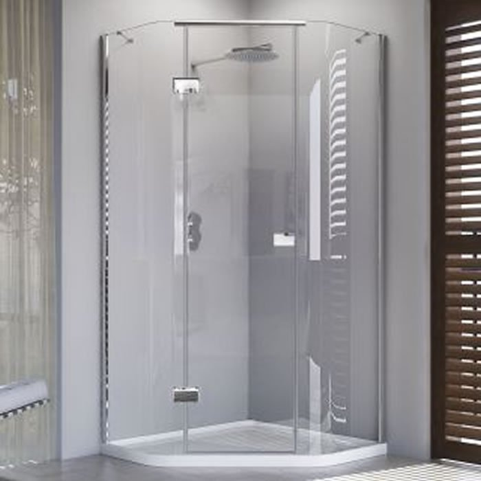Matki Illusion Quintesse Offset 1200 X 900mm Shower Enclosure With Integrated Tray Iqt1290 Bhs Home Improvements