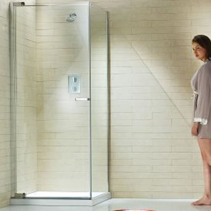Matki Radiance Pivot Door 900 X 900mm Shower Enclosure With Side Panel Nrpc900